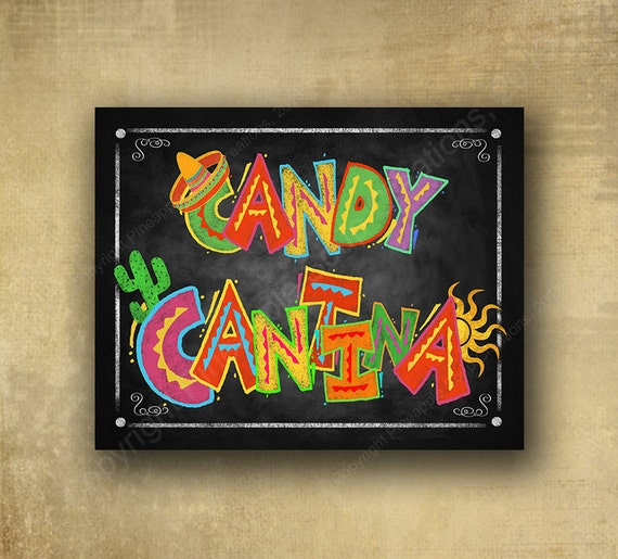 Fiesta Candy Cantina Printed sign