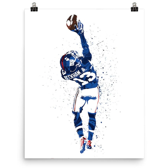 Odell Beckham Jr, The Catch, New York Giants Sports Art Print, Football  Poster, Kids Decor, Watercolor Abstract Drawing Print, Modern Art