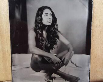 Nude model figure study tintype Monique-01