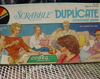 1982, Scrabble Brand Duplicate Crossword Game No. 25