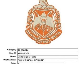 Embroidery Machine File 36002-03-05 Delta Sigma Theta