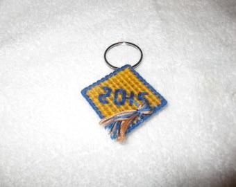 Plastic Canvas Graduation Cap Key Ring