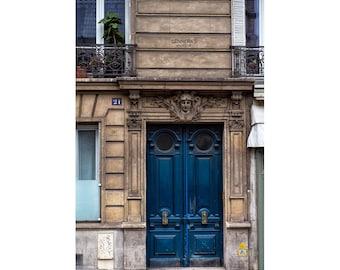 door photography art, Paris wall art, rustic door print, Paris Door Print, Paris Photography, Dark Blue Door, Indigo Navy Wall Art