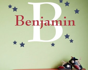 Star Custom Name Decal - Vinyl Decal - Nursery Children Boy