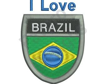 Love Brazil - Machine Embroidery Design