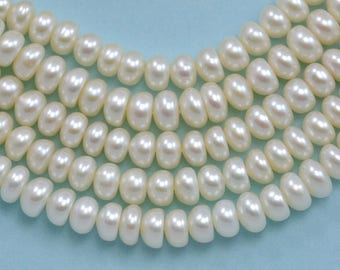 3.5-4mm Ivory White Ronelle Button Small Freshwater Pearls Beads A