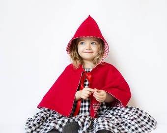 Little Red Riding Hood cape, Red Riding Hood costume, Red Riding Hood toddler, Red Riding Hood baby, Red Riding Hood girls, red cloak