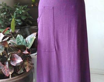 Organic Maxi Skirt. Hemp Skirt. Long A line skirt with pocket. Organic Cotton Hemp Clothing. XS - XL