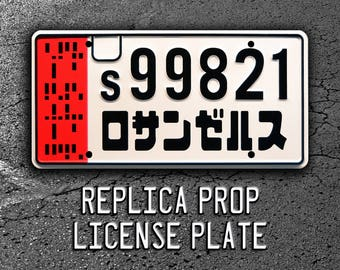 Blade Runner 2049 | Ryan Gosling Officer K's Spinner | Los Angeles | s99821 | Metal Stamped Replica Prop License Plate
