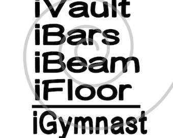 iGymnast - Silhouette Cut File