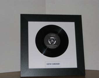 "New Order Blue Monday  7"" framed vinyl record home decor gift ideas"