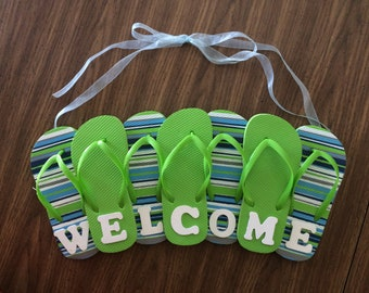Flip-flop Welcome Sign