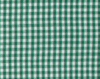 "HALF YARD 1/16"" KELLY Fabric Finders Gingham"