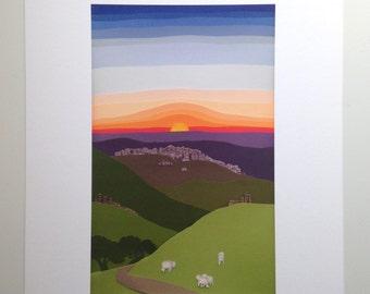 Sunrise Journey to Bethlehem (8.5x11)