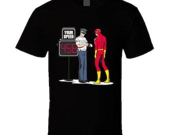the flash superhero geek funny tshirt t-shirt