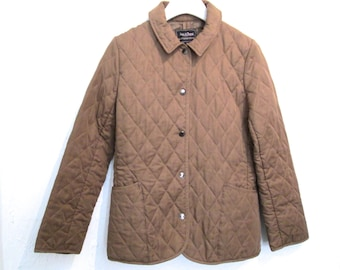 90's Tan Quilted Fitted Coat size - S/M