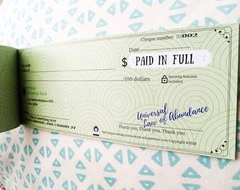 New Moon Abundance Cheque