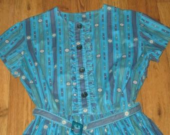 Vintage 1950s St Michael Cotton Day Dress