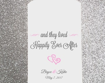 W28, Happily Ever After, Wedding,  Candy Bag, Candy Buffet, Sweets, Favor Bags, Treat Bags, Bridal Shower, Personalized bags, Engagement
