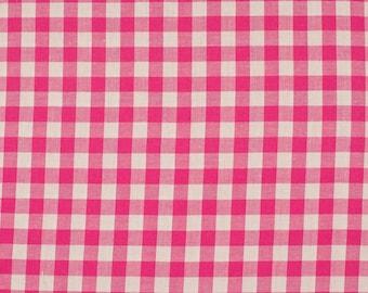 Fuchsia 5mm 100% cotton gingham fabric