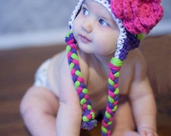 Hat for girls, girls hat, , crochet , little girls hat, baby girl hat, crochet girls hat, girls winter hat, crochet girls, baby girl hat