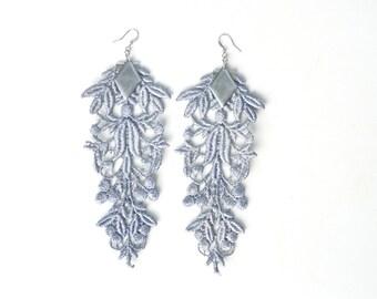 Silver Lace Earrings
