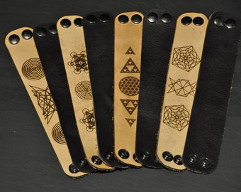 Matrix Spiral Leather Bracelet