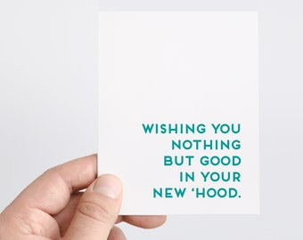 Funny Housewarming Card | New Home Card | Moving Card | New House | Housewarming Gift | New Hood | Funny New Apartment Card | Miss You Card