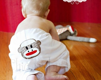 Sock Monkey Pants by Chic Baby Rose Great Photo Prop