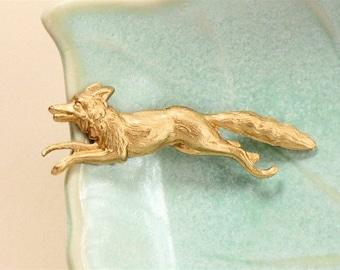 brass FOX jewelry embellishment 47mm x 14mm (FF2a)