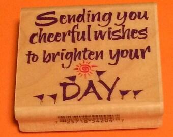Cheerful Wishes Stamp