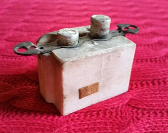 Vintage Electrical Switch in Porcelain