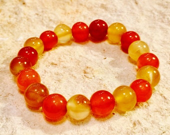 Gemstone Beaded Bracelet featuring Assorted Agate Beads