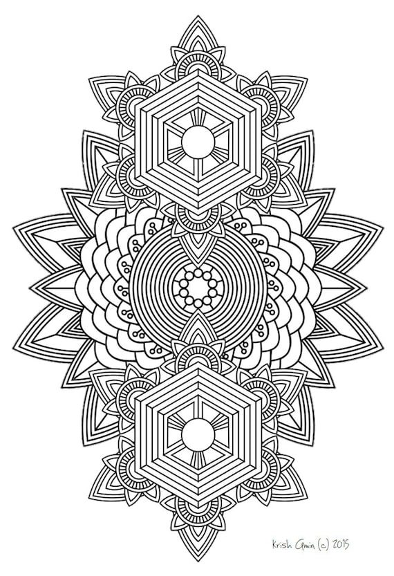 Mandala Adult Coloring Page from Zen Out Vol. 1Detailed Mandala Coloring Pages For Adults