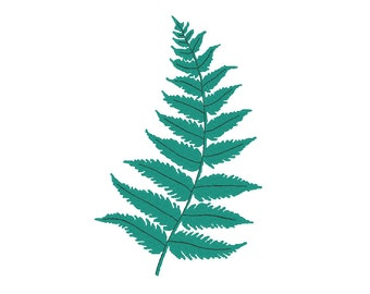 Fern Frond Embroidery Machine Design
