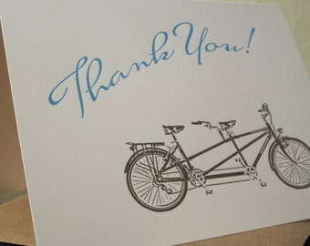 Vélo tandem Merci - carte typographique