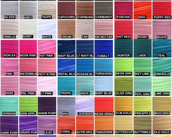 """Fold Over Elastic 5/8"""", Fold Over Elastic for Headbands, 5/8"""" Foldover Elastic By the Yard, 5 or 10 yards Over 80 Colors LISTING #1/2"""