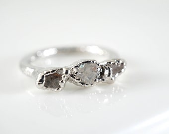 April Birthstone • Raw Crystal Ring • Lake County Diamond Ring • Rough Crystal Ring • Minimalist Ring • Promise Ring • Delicate Ring