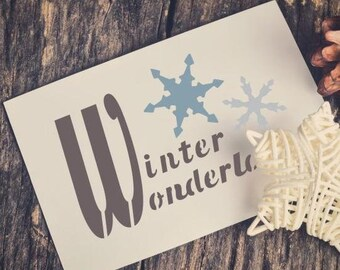 Winter Wonderland Craft Stencil by Crafty Stencils