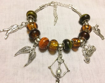 Daryl Dixon Charm Bracelet, The Walking Dead Charm Bracelet