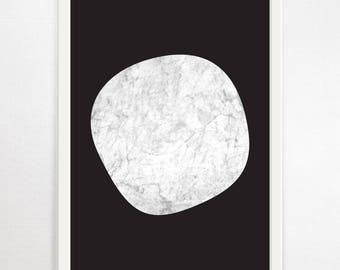 Minimalist Art, Marble Print, Monochrome Print, Abstract Art, Abstract Wall Art, Large Art Print, Modern Art, Scandinavian Print