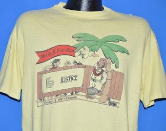 80s McGruff Crime Dog 1987 Hawaii Fun Run t-shirt Large