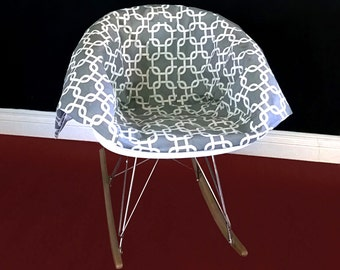 Grey Patterned EAMES Rocking Chair Pad