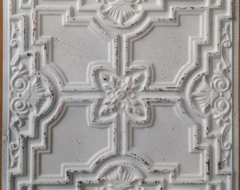 Ceiling false tin finished distress crack white copper color PL16 10tiles/lot
