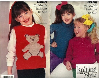 Childrens Fashions to Knit  Pattern Book Simplicity 0468