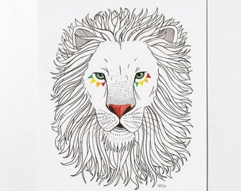 LION - 8x10 art print
