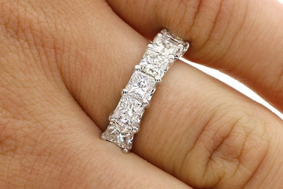 on best jewelry kingofjewelry band eternity cut images pinterest wedding rings princess bands anniversary diamond