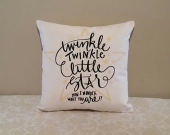 Twinkle, Twinkle, Little Star Pillow | Nursery Decor | Gifts for Baby | Gifts for New Parents | Nursery Decoration | First Baby Gift