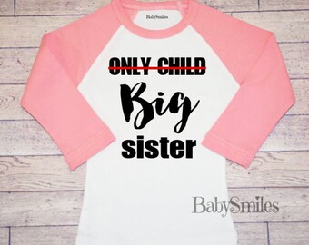 Big Sister Shirt Big Sis Sister to be Personalized Shirt Sibling Shirt Baby Announcement Shirt Pregnancy Announcement Hipster Shirt 600