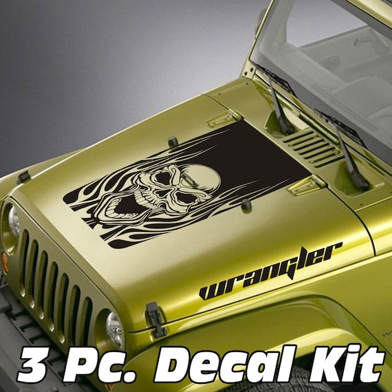 Image is loading 2-Decal-sticker-kit-For-Jeep-Wrangler-skull-